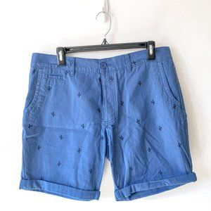 Primark Men's Blue Cactus Denim Shorts Size 34